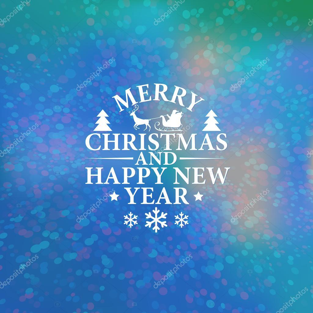 Weihnachten und Neujahr Grußkarte. Vektor-Illustration. Der ...