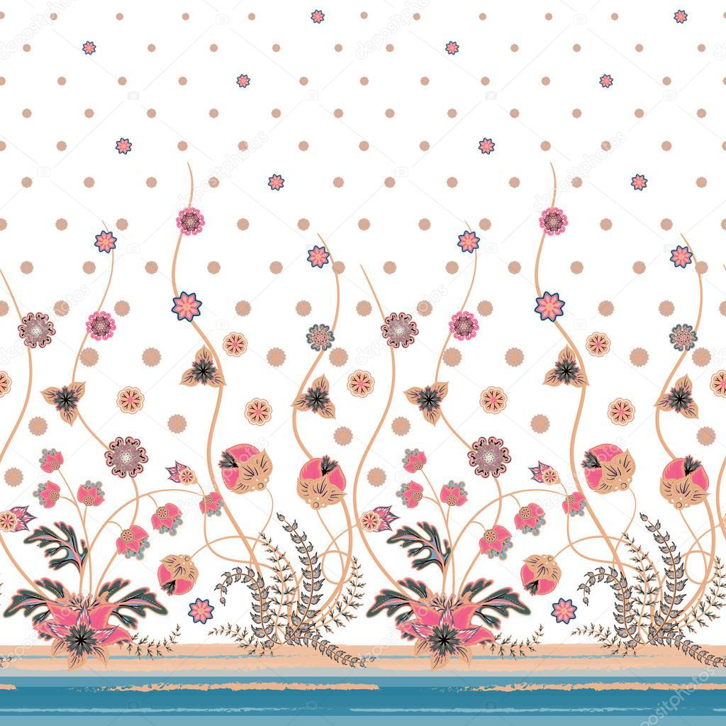 vectores elegantes de patrones sin fisuras con flores abstractas para tu ropa de diseo ropa de cama invitacin textil diseo de tarjeta etc