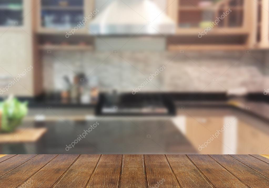 cucina, tavolo in legno superiore — Foto Stock © utah778 #114618562