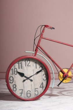 wall clock built into the bicycle wheel