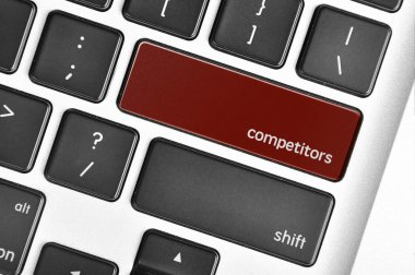 The computer keyboard button written word competitors