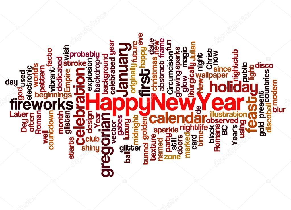 word happy new year