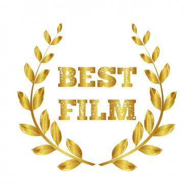 Best Film. Gold Award. Golden laurel wreath. Film Festival. Cinema. Vector Image