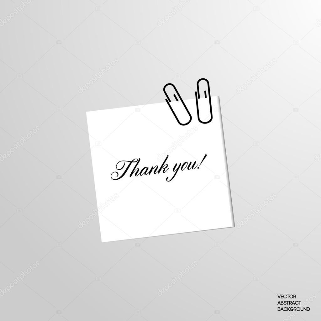 note on a sheet thank you sticker message thanks message write