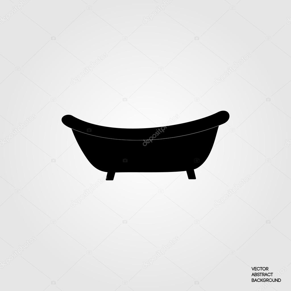 classic bath bath silhouette bath icon bathtub stock vector oksanadesign 112392636. Black Bedroom Furniture Sets. Home Design Ideas