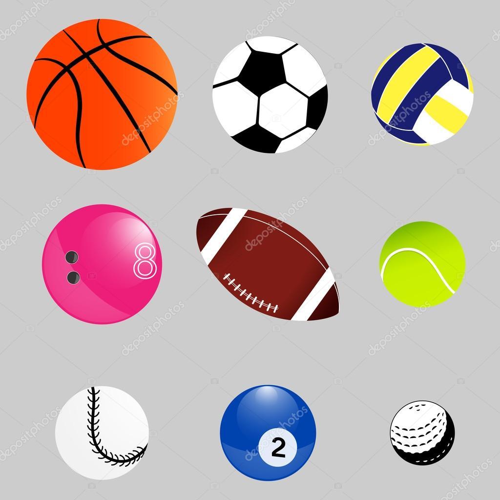 Conjunto de bolas de esporte. Equipamento  Basquete de2d1aa807d4f