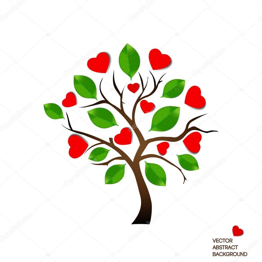 Arbol con hojas de corazon | Imagen de un árbol con hojas ...