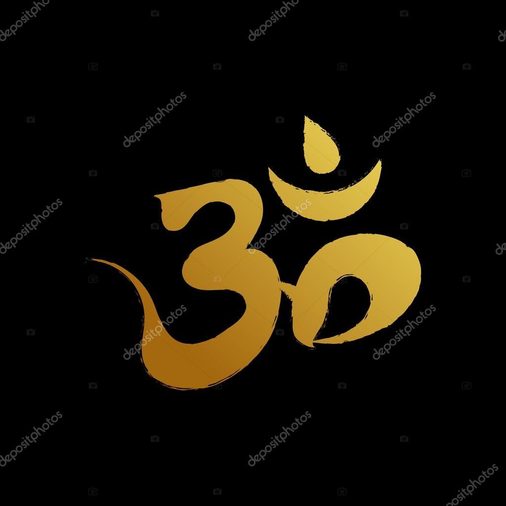Sign paranova. Sign of Hinduism. Paranova gold. Icon Hinduism.