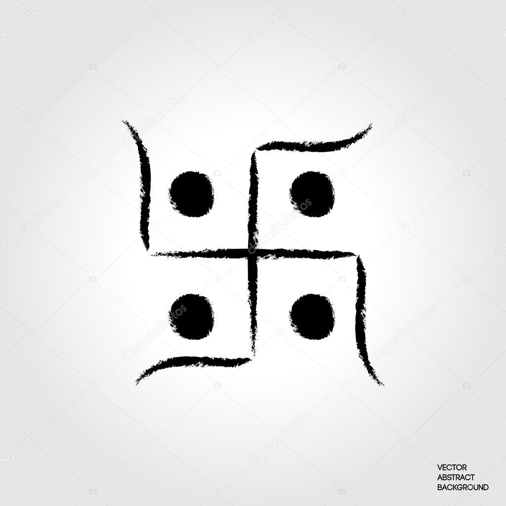 Hindu Sacred Sound Om Indian Swastika Hinduism Symbol Hindu Cross