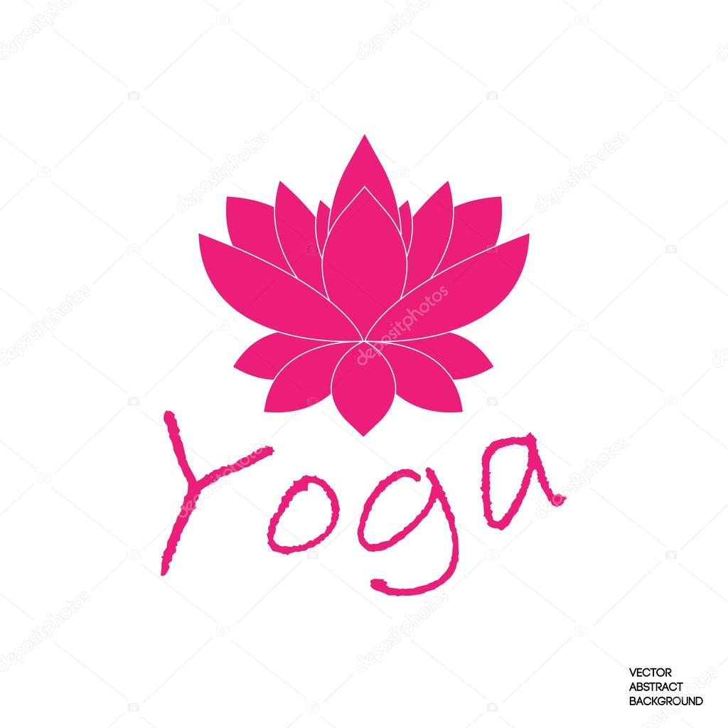 Lotusblüte Yoga Symbol Yoga Zeichen Stockvektor Oksanadesign