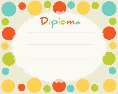 Preschool Elementary school. Kids Diploma certificate background