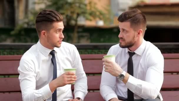 Two businessmen on a break