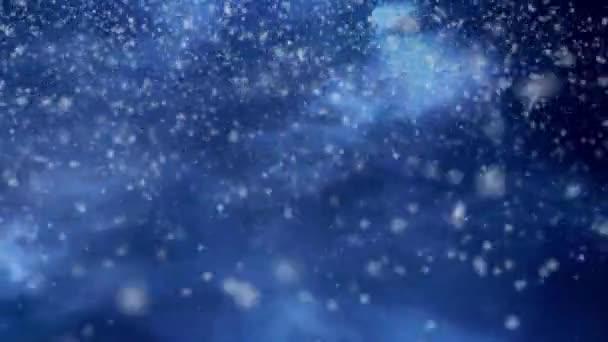 Sníh padá silně