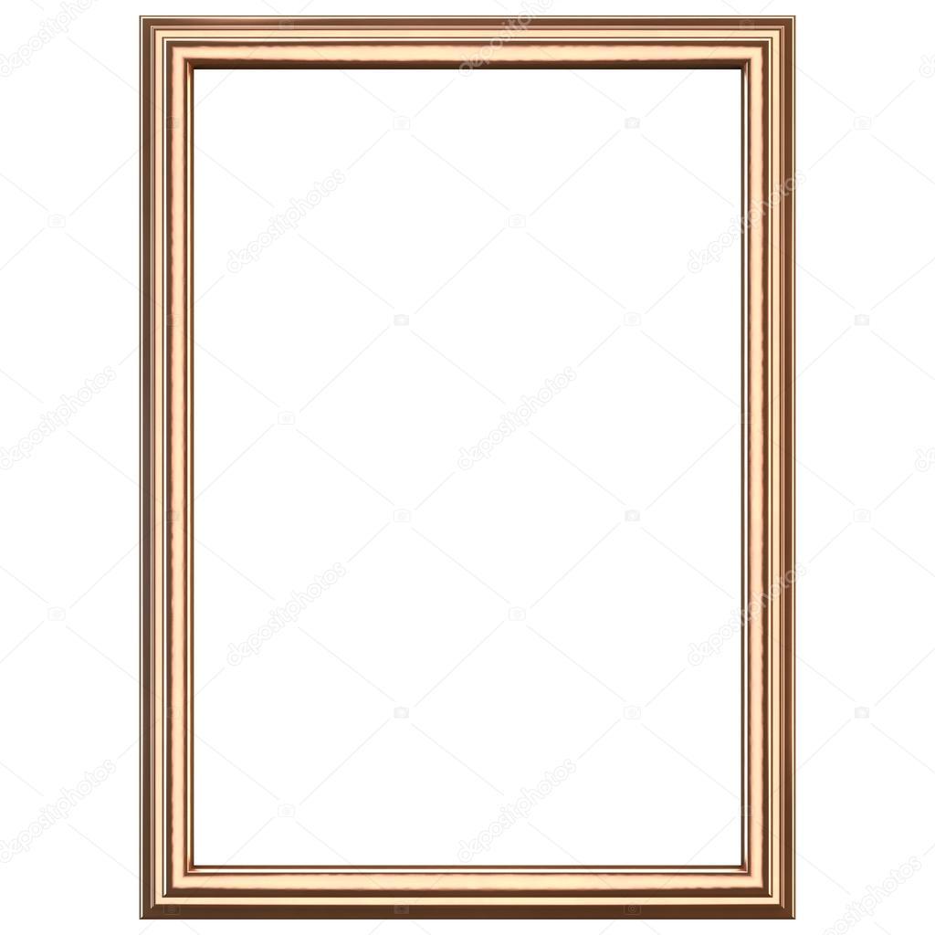 Copper wooden frame — Stock Photo © somartin #85593440