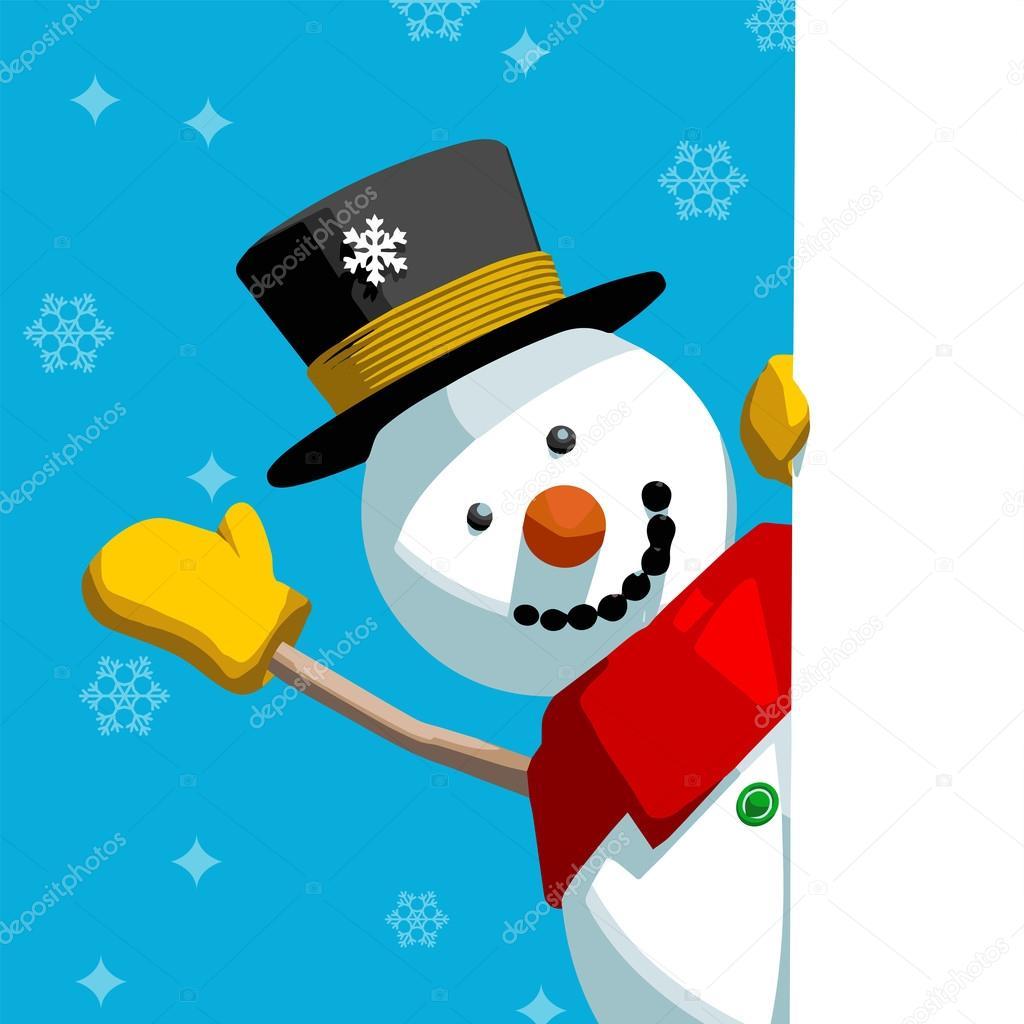 Snowman Greeting Message Stock Vector Somartin 86709402