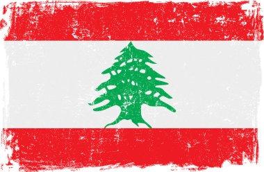 Lebanon Vector Flag on White