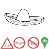 sombrero, mexické příslušenství ukazatel značky, vektor sombrero klobouk pro tisk nebo designu