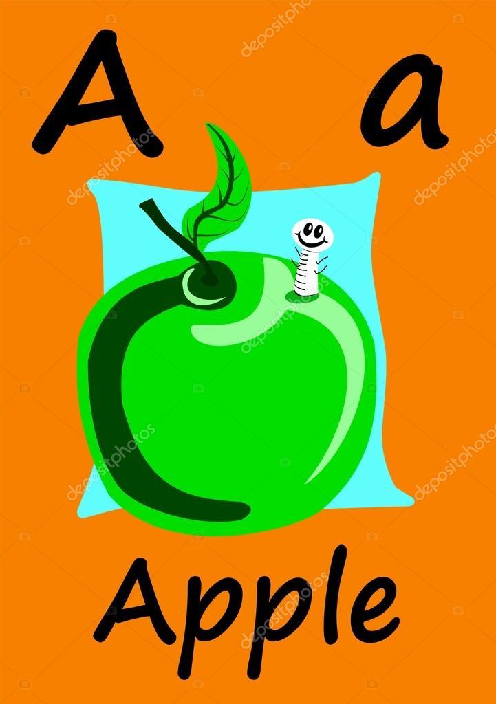 Tarjetas del alfabeto. Carta. Es para Apple — Foto de stock © Caymia ...
