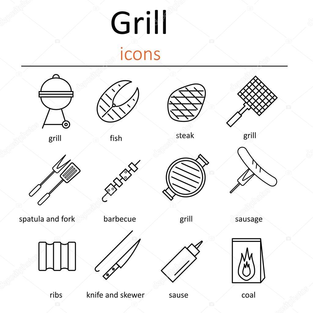 Grill Symbole Symbole Die Grillen Zubehor Backofen Grill Grill