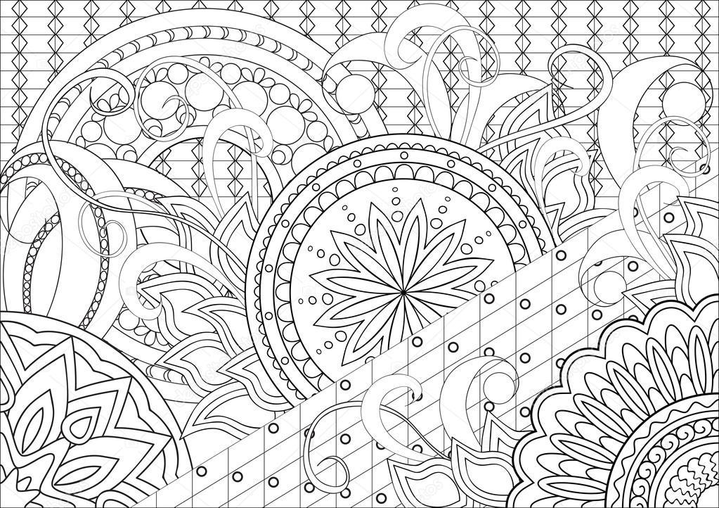 Doodle flores y mandalas — Archivo Imágenes Vectoriales © sliplee ...