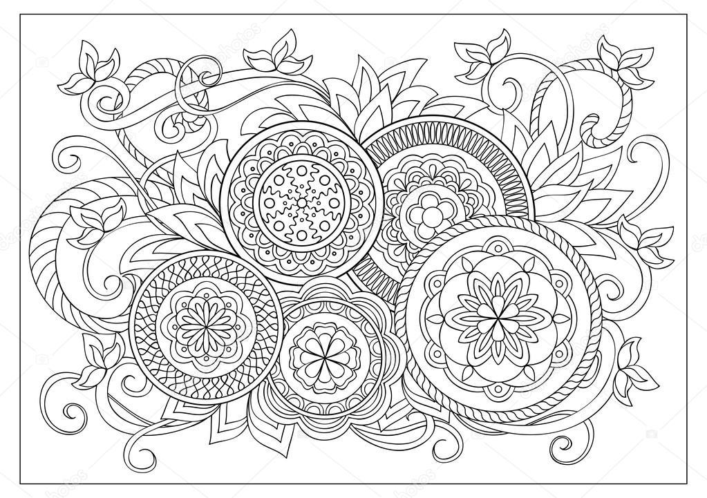 Dibujos: para colorear adultos | imagen de página para colorear de