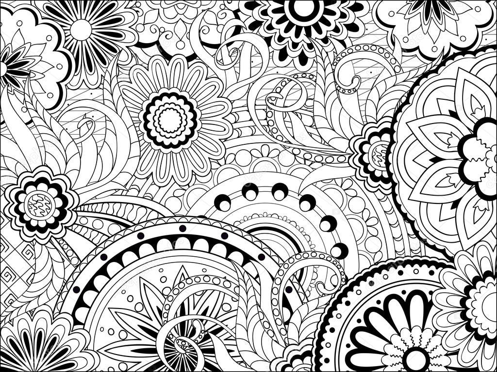 Herunterladen - Bild mit Doodle-Mandalas und Gewirr Elemente ...