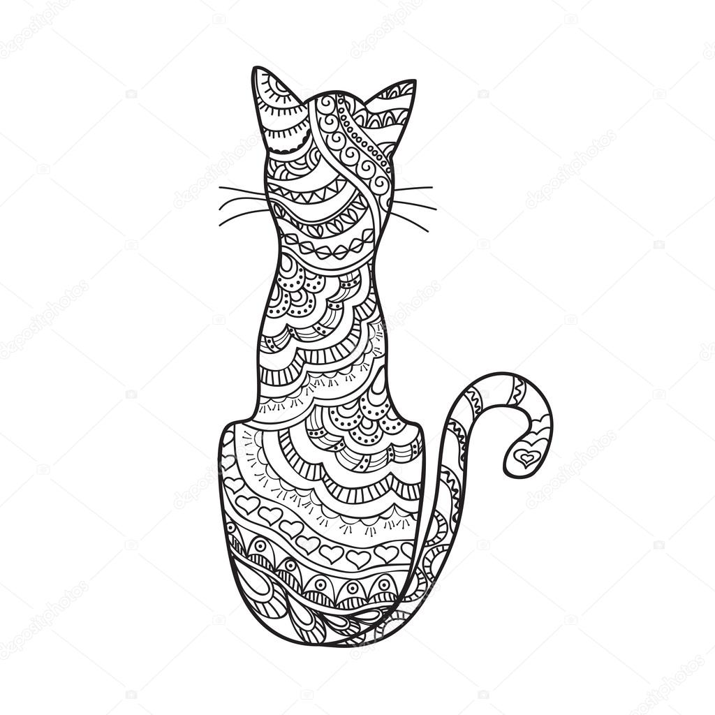Gatos A Lapiz Animados Dibujado A Mano Decoradas Dibujos Animados