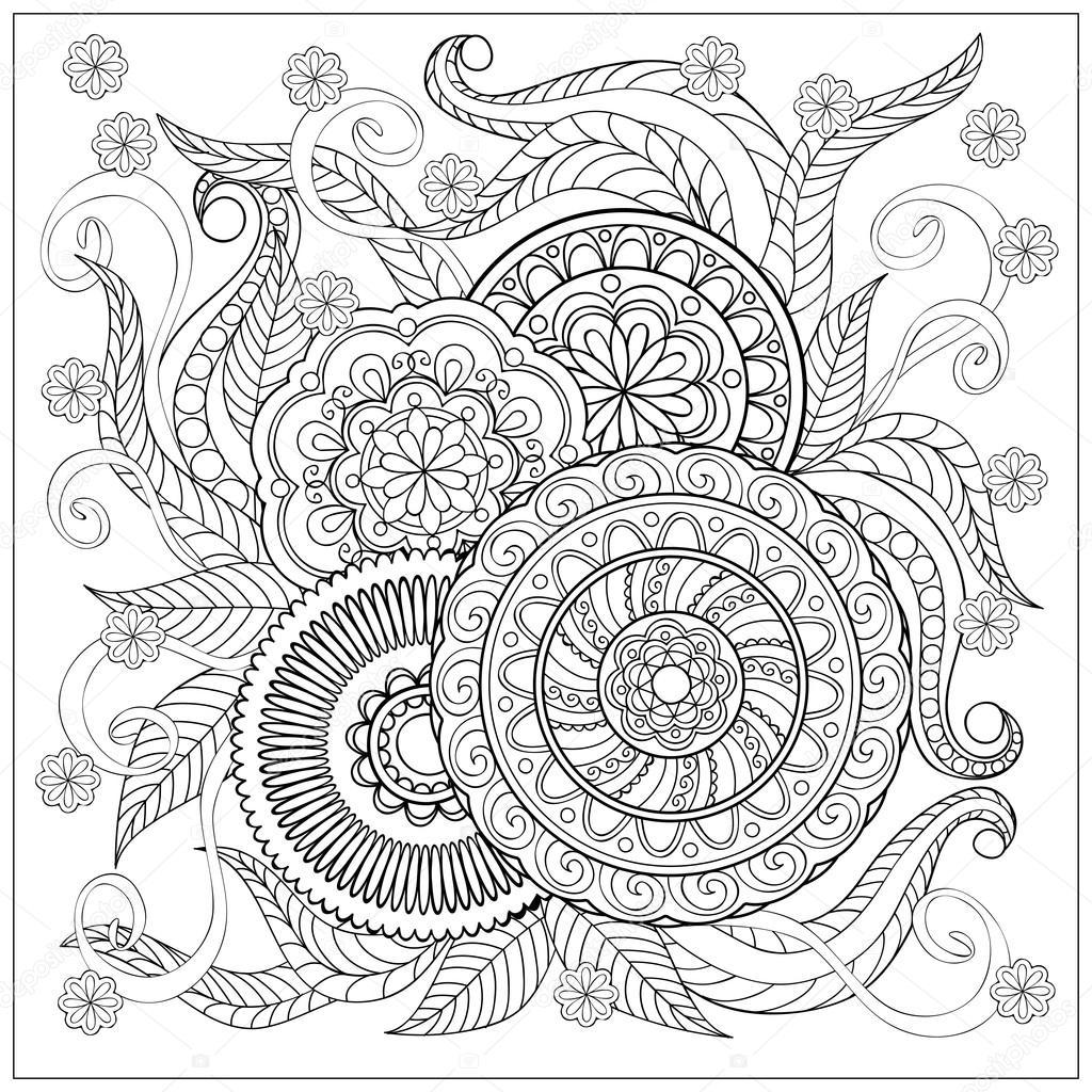 IMADE con mandalas y flores — Archivo Imágenes Vectoriales © sliplee ...