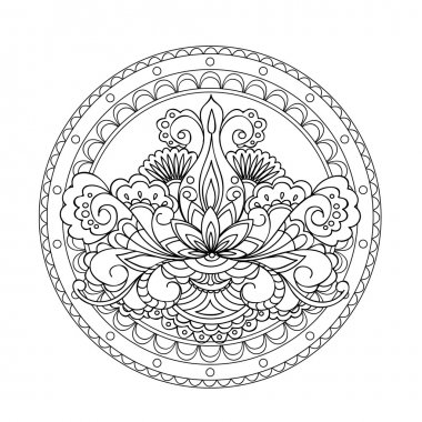 isolated image in the  mandala