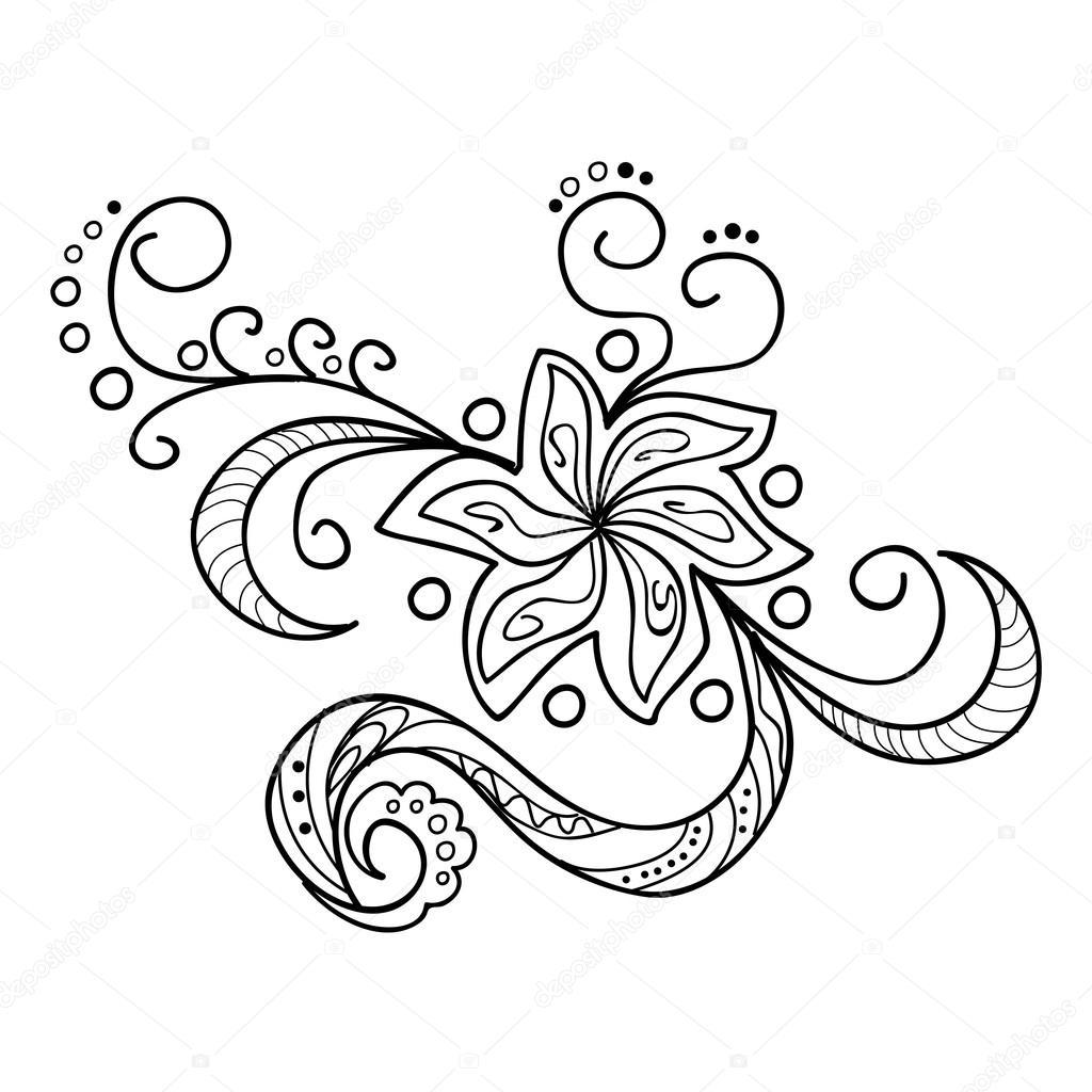 Zentangle Flowers Concept Stock Vector C Sliplee 93375164