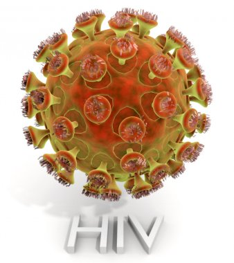 HIV Virus With Text