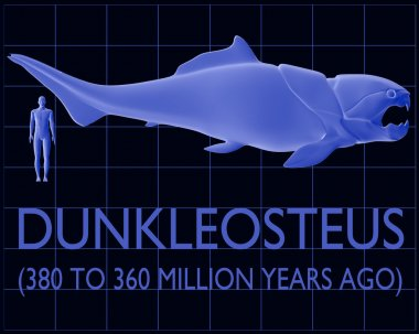 Dunkleosteus and Human Size Comparison