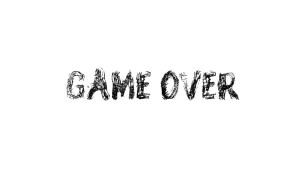 Game over hand draw lettering calligraphy. Animation of doodled. Motion graphics.