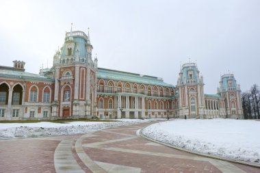 vintage palace of russia in winter