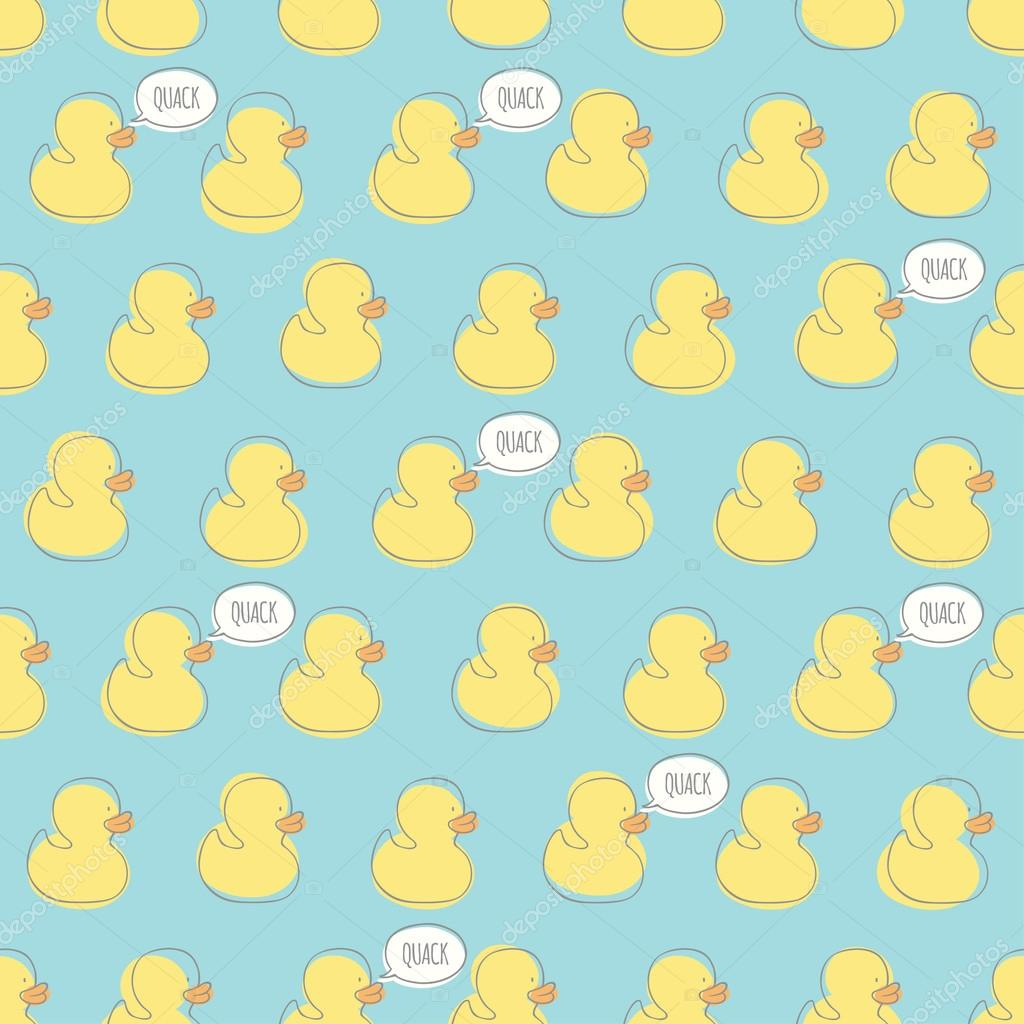 Seamless Minimal Vector Pattern With Bright Yellow Baby Ducks For Cards Invitations Wedding Or Shower Albums Backgrounds And Scrapbooks