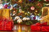 Photo Christmas presents, Christmas tree