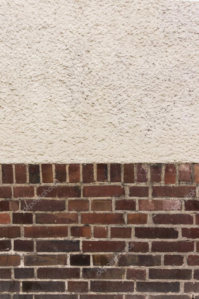 Geliebte Außenwand mit verputzt Top auf roten Klinker Ziegel-Unterseite #NE_18