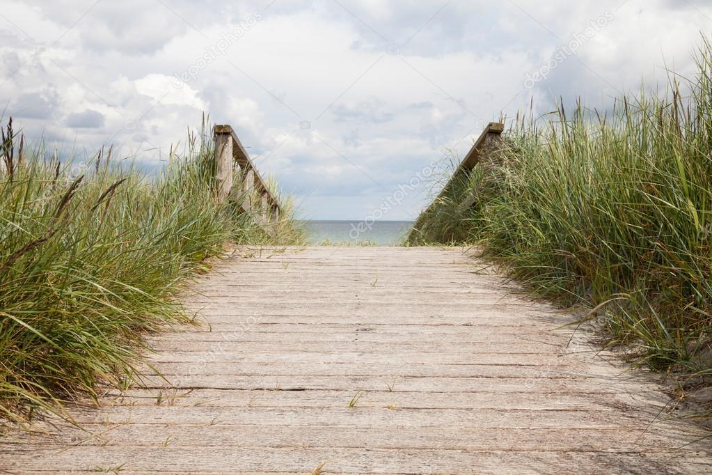 Germany, Schleswig-Holstein, wooden boradwalk