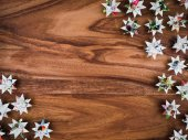 Fotografie Christmas, stars, Background wood, copy space