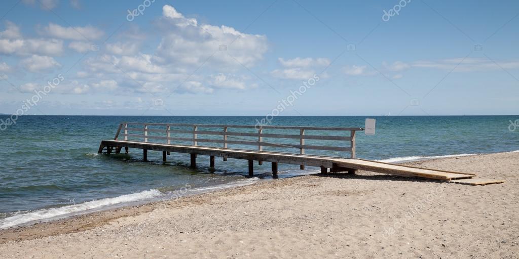 Germany, Baltic Sea, jetty, beach