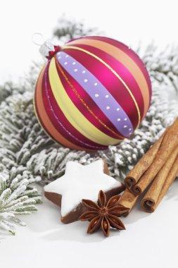 Christmas decorations with cinnamon sticks