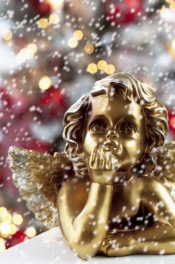 Golden angel figurine