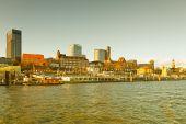 Fotografie Deutschland, Hamburg, Blick auf den Hansahafen