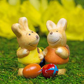 Fotografie Two easter bunnies