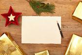 Fotografie Vánoční dárky a prázdné vizitky