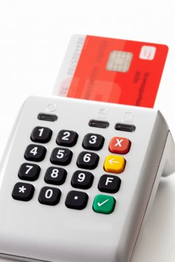 Credit card reader and chipcard