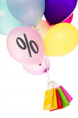 Colorful balloons, bags