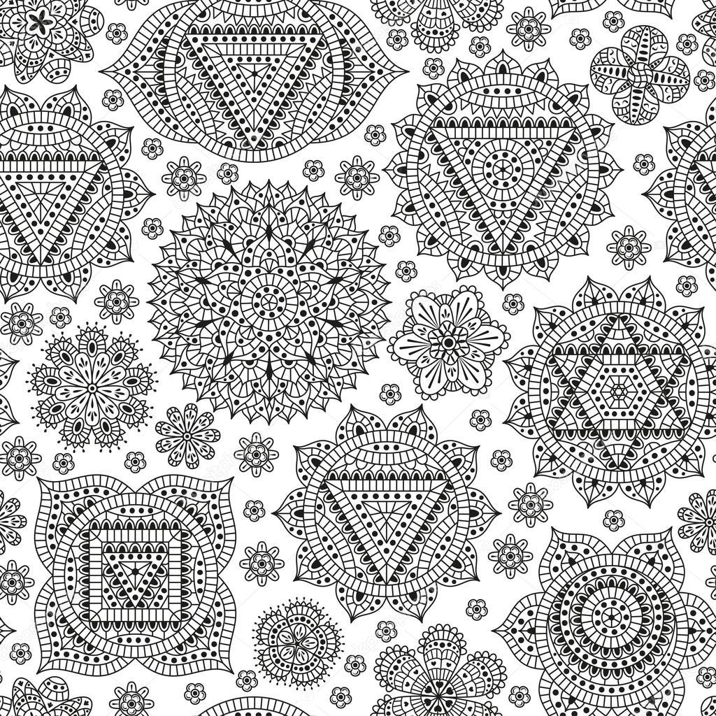 Wzór Z Siedmiu Czakr Orientalne Ornamenty Na Tatuaż Henną I