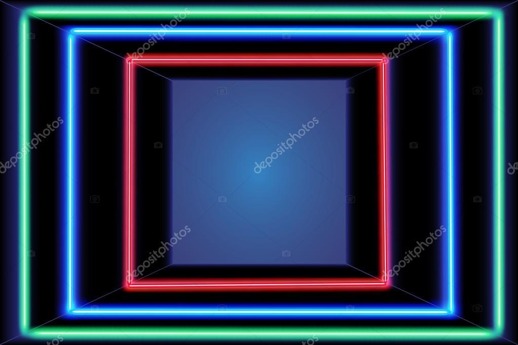 Three multicolored self-illuminated frames — Stock Vector © klerik78 ...