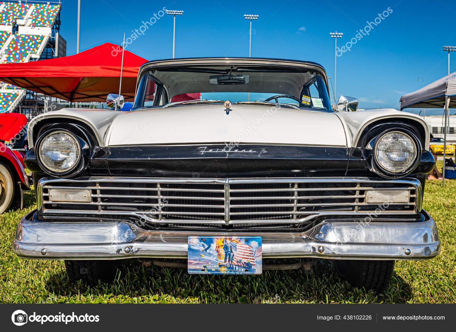 1957 Set 5 Ford Fairlane Texas Car Front Rear End Steering Wheel Love Photos Black White Photographs